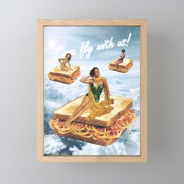 Sandwich Airlines - Come fly with us! Framed Mini Art Print