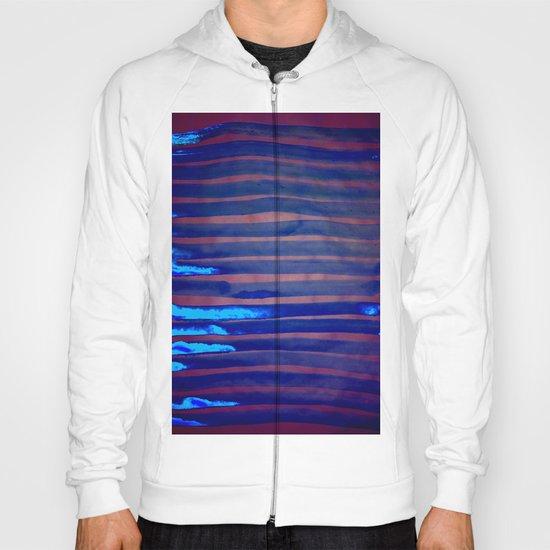 Blue Ice Lines Stripe Hoody