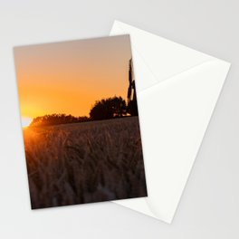 North German windmill from old time in the sunset Stationery Cards