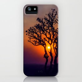 A Sunset Silhouette in Hampi, India iPhone Case