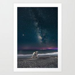 Milky Way Digital Print, Star Galaxy Poster, Night Sky Photography, Starry Sky Printable, Greece Art Art Print