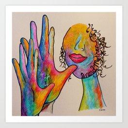 American Sign Language Grandmother Art Print