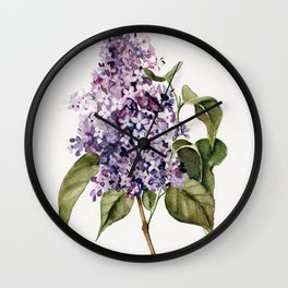 Lilac Branch Wall Clock