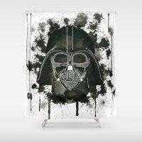 dark side Shower Curtains featuring Dark side by Gilles Bosquet