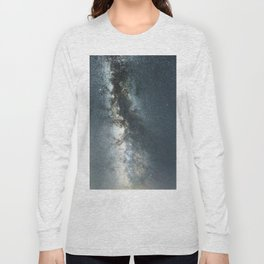 Starry sky with millions of stars, Milky Way galaxy Long Sleeve T-shirt