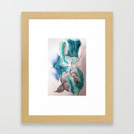 SEXYSCRIBBLES - Blue odyssey Framed Art Print