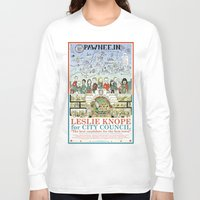 leslie knope Long Sleeve T-shirts featuring Leslie Knope for City Council - Parks and Recreation Dept. by Jasey Crowl