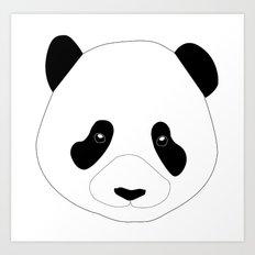 Panda Preto Art Print