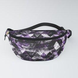 Triangle Geometric Purple Smoky Galaxy pattern Fanny Pack