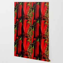 New Mexico Red Chiles growing in the Rio Grande Valley Wallpaper