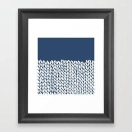 Half Knit Navy Framed Art Print
