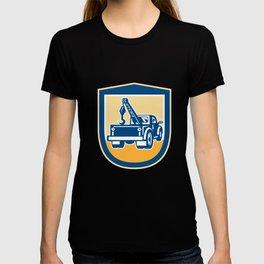 Tow Truck Wrecker Rear Shield Retro T-shirt