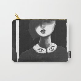 Contemporary Black and White Collar Carry-All Pouch