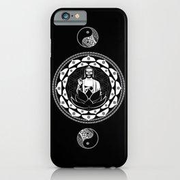 Buddha Black & White Yin & Yang Flower Of Life iPhone Case