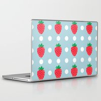 strawberry Laptop & iPad Skins featuring strawberry by vitamin