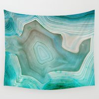 clock Wall Tapestries featuring THE BEAUTY OF MINERALS 2 by Catspaws