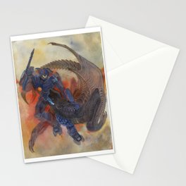 Battle of titans Stationery Cards