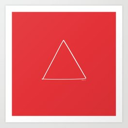 Fire - Minimal FS - by Friztin Art Print