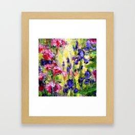 Purple Iris Garden Framed Art Print