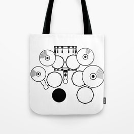 Heartbeats Drumset Tote Bag
