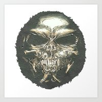 scary Art Prints featuring SCARY by Robleedesigns