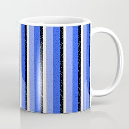 Speckled Blue Vertical Line Pattern Coffee Mug