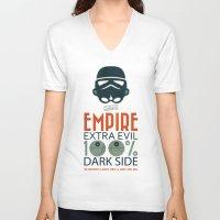propaganda V-neck T-shirts featuring Star Wars Empire Propaganda by Costantino Gallo