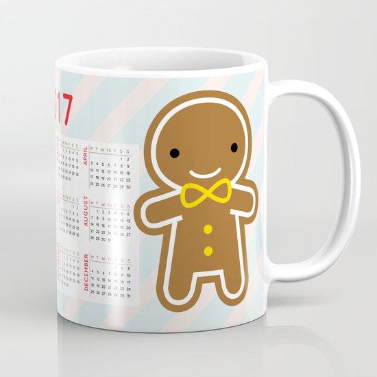 Cookie Cute Gingerbread Couple 2017 Calendar Mug
