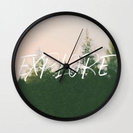 Explore (Pine) Wall Clock