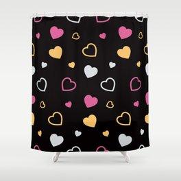 Stylized hearts pattern 3 Shower Curtain