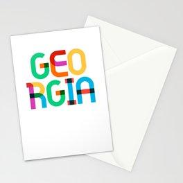 Georgia State Mid Century, Pop Art Mondrian Stationery Cards