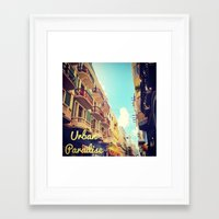 puerto rico Framed Art Prints featuring Colorful Puerto Rico  by Forgotten Charm