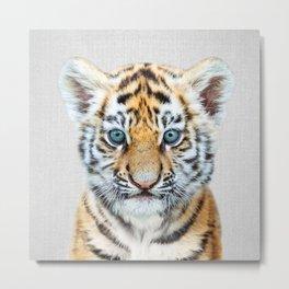 Baby Tiger - Colorful Metal Print