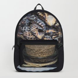 Sea shells in a bottle Backpack