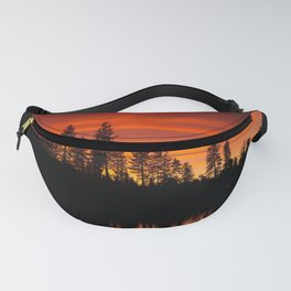 Red Reflections Fanny Pack