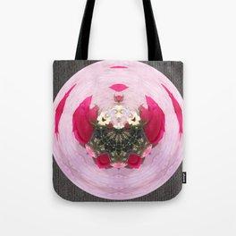 Pink/Gray Rose Abstract Tote Bag
