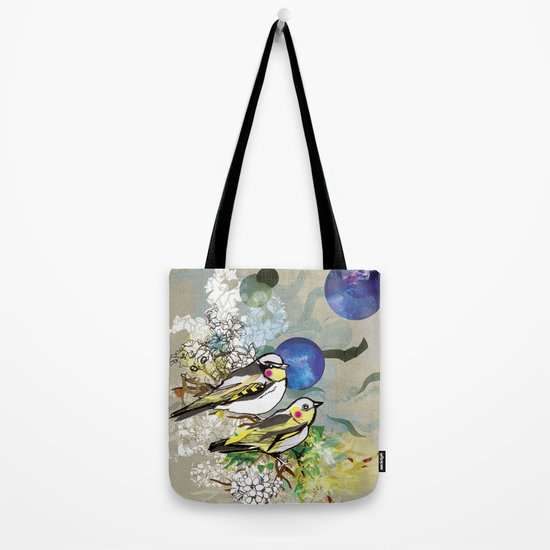 Yellow Birds Tote Bag