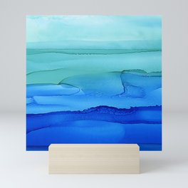 Alcohol Ink Seascape Mini Art Print