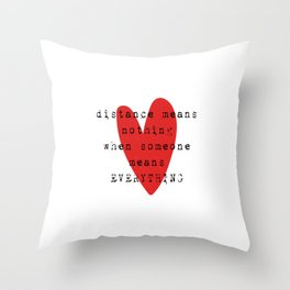 Long Distance Relationship LDR Throw Pillow