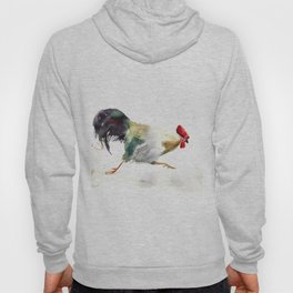 Symbol of 2017 Year, watercolor rooster, cock, cockerel Hoody