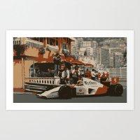 King of Monaco Art Print