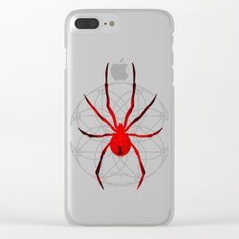 The Red Widow Clear iPhone Case