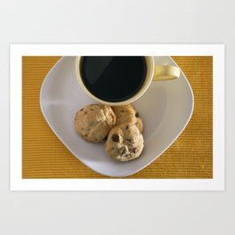Cookies and Coffee Art Print