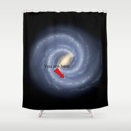 You are Here (improved version) Shower Curtain