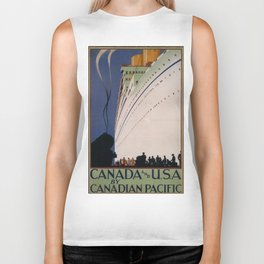 Vintage poster - Canadian Pacific Biker Tank