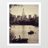 central park Art Prints featuring Central Park by C Liza B
