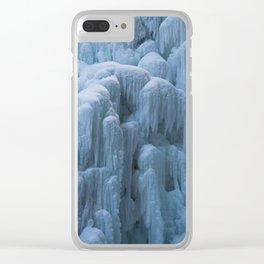 Frozen Waterfall Clear iPhone Case