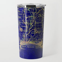 San Pedro Bay OLD MAP 1904, united states vintage maps Travel Mug