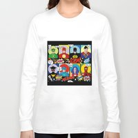 superheroes Long Sleeve T-shirts featuring Superheroes by Chicca Besso