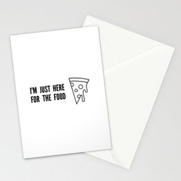 I'm Just Here For The Food Stationery Cards